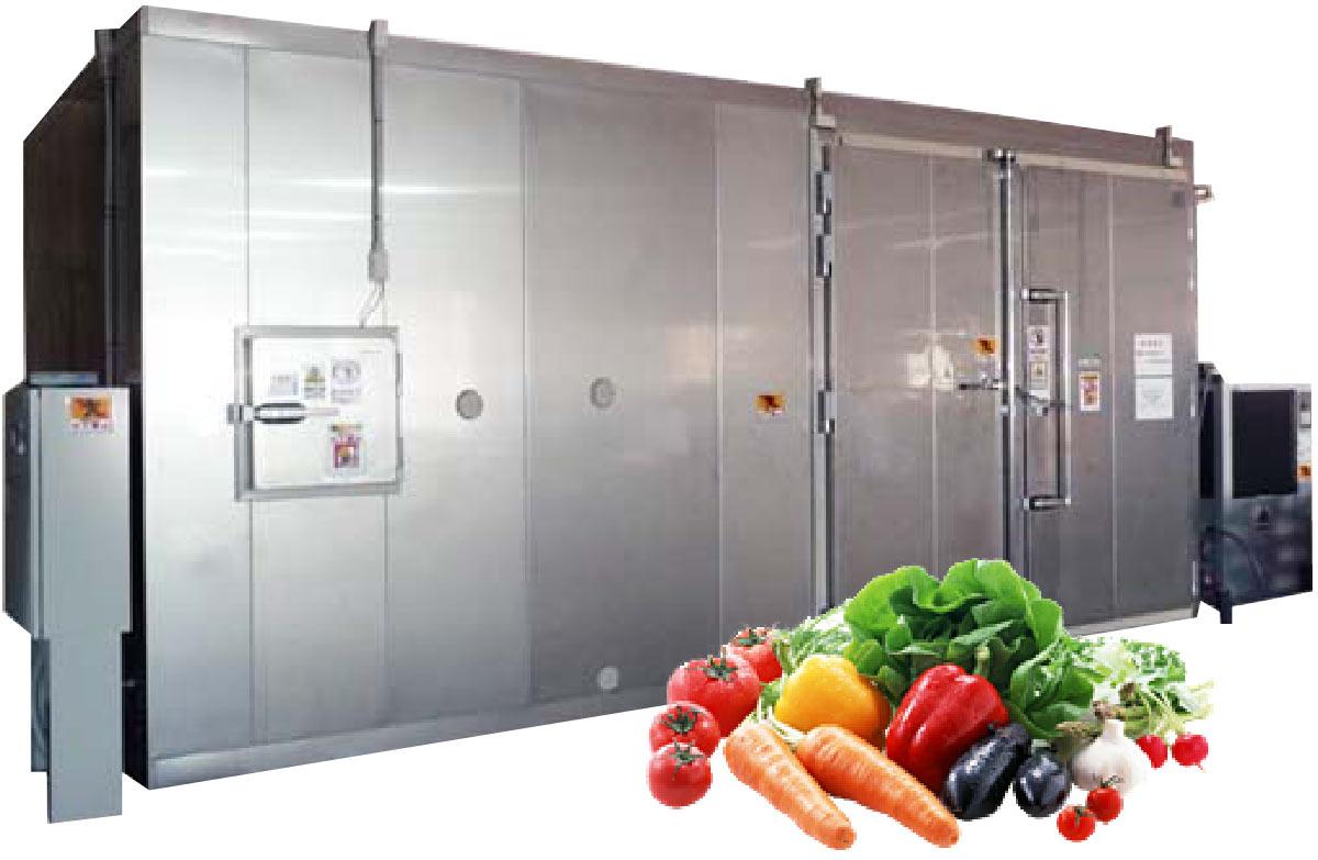 青果物の長期保存のニーズにこたえる、低温調湿鮮度保持装置を開発